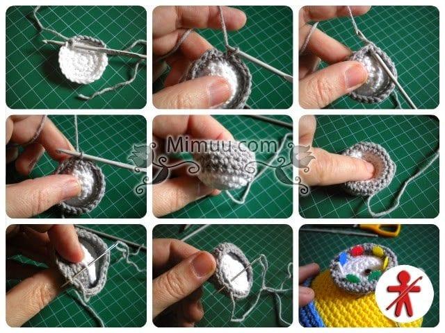 Amigurumi Nedir Nasıl Yapılır : Amigurumi minion modeli yapımı mimuu