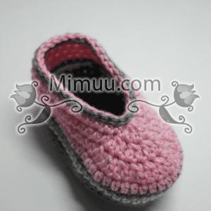 Örgü Bebek Patiği Yapılışı 11