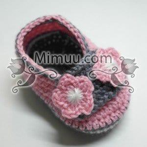 Örgü Bebek Patiği Yapılışı 15