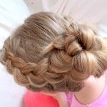 Kız Çocuk Örgü Saç Modeli