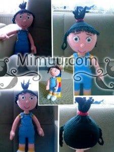 Agnes Minyon Amigurumi Bebek Örgü Şeması 5