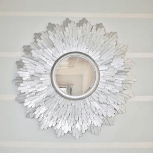 Dondurma Çubuklarından Dekoratif Ayna Yapılışı 3