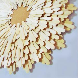 Dondurma Çubuklarından Dekoratif Ayna Yapılışı 7