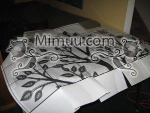 Dondurucu Kağıt Şablonla Duvar Boyama Yapılışı 1