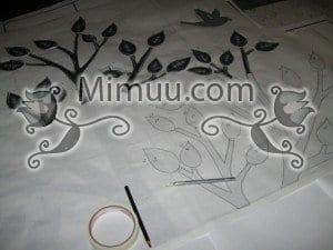 Dondurucu Kağıt Şablonla Duvar Boyama Yapılışı 2