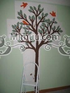 Dondurucu Kağıt Şablonla Duvar Boyama Yapılışı 4