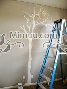 Duvarda Ağaç Boyama 7