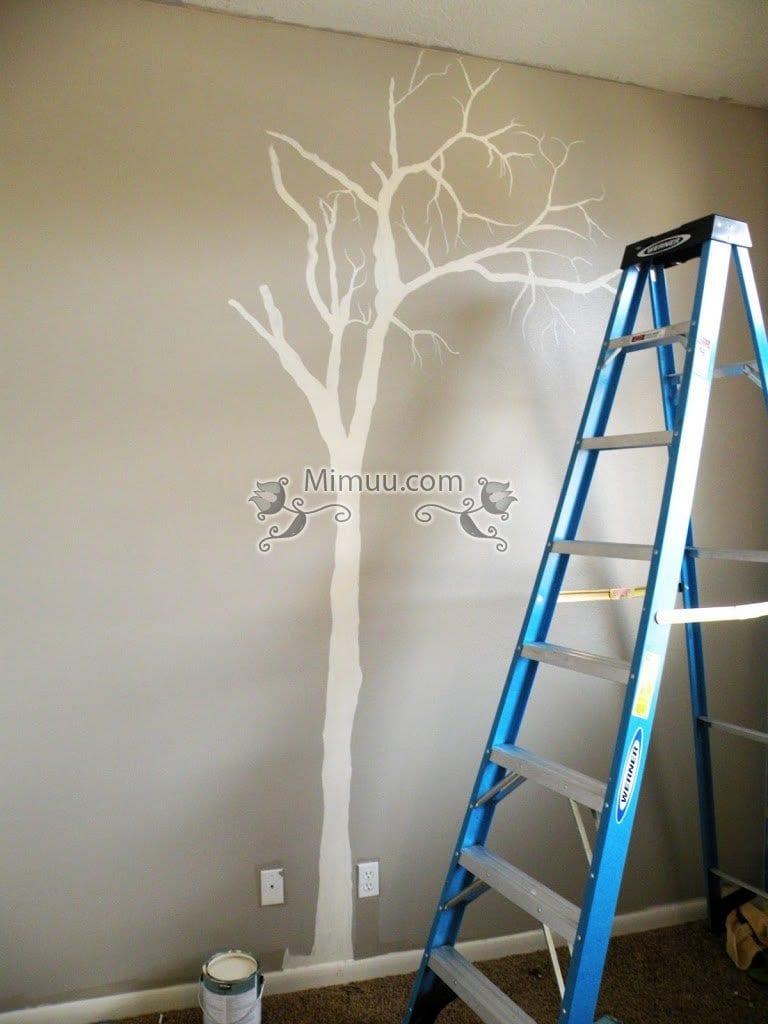 Duvar Boyama Teknikleri Ağaç Boyama Mimuucom