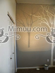 Duvarda Ağaç Boyama 8