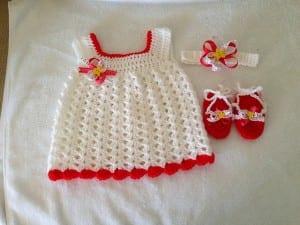 Kolay Bebek Elbisesi Yapılışı 5