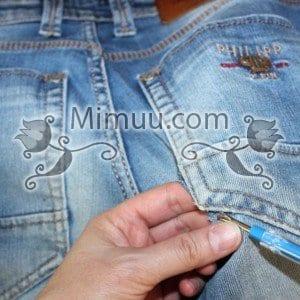Kolay Jeans Cep Yaması Yapılışı 10