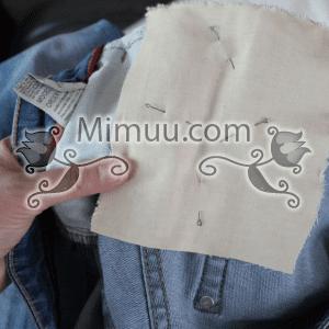 Kolay Jeans Cep Yaması Yapılışı 11