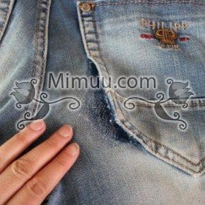 Kolay Jeans Cep Yaması Yapılışı 5