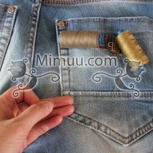 Kolay Jeans Cep Yaması Yapılışı 6