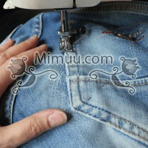 Kolay Jeans Cep Yaması Yapılışı 7