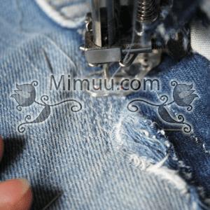 Kolay Jeans Cep Yaması Yapılışı 8