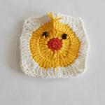 Örgü Ördek Bebek Battaniyesi Motifi Yapılışı 2