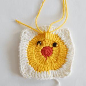 Örgü Ördek Bebek Battaniyesi Motifi Yapılışı 4