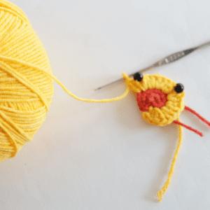 Örgü Ördek Bebek Battaniyesi Motifi Yapılışı 5