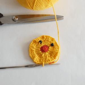 Örgü Ördek Bebek Battaniyesi Motifi Yapılışı 7