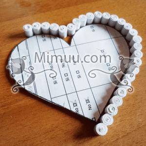 Quilling Kalp Kutu Yapılışı 4
