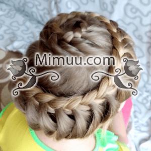 Salyangoz Örgü Saç Modeli