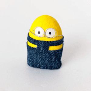 Taş Boyamadan Sevimli Minion Yapılışı 6