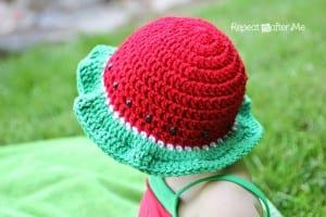 Tığ İşi Karpuz Şapka 6