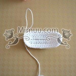 Yazlık Örgü Bebek Sandaleti Yapılışı 9