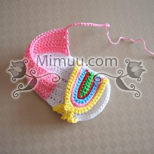 Yazlık Örgü Bebek Sandaleti Yapılışı 12