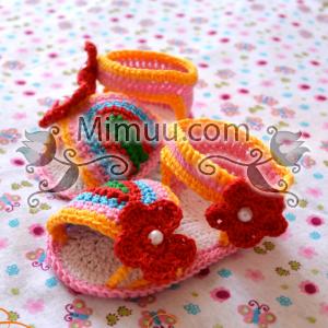 Yazlık Örgü Bebek Sandaleti Yapılışı 14