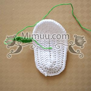 Yazlık Örgü Bebek Sandaleti Yapılışı 16