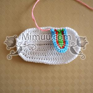Yazlık Örgü Bebek Sandaleti Yapılışı 17