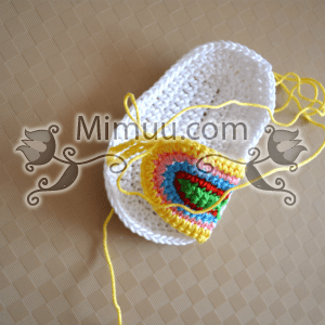 Yazlık Örgü Bebek Sandaleti Yapılışı 20