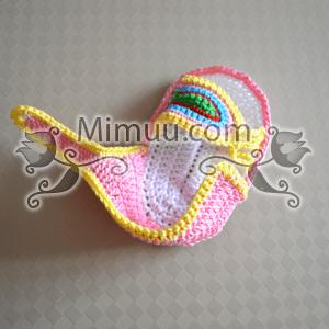 Yazlık Örgü Bebek Sandaleti Yapılışı 23