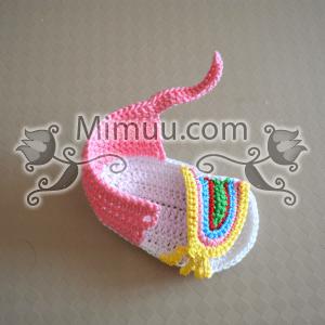Yazlık Örgü Bebek Sandaleti Yapılışı 3