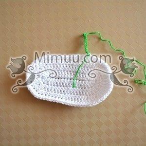 Yazlık Örgü Bebek Sandaleti Yapılışı 5