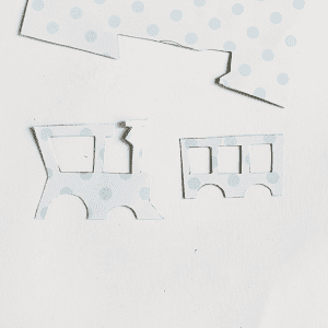 Dekupaj Kağıdı İle Sevimli Tren Yapılışı 9