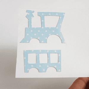 Dekupaj Kağıdı İle Sevimli Tren Yapılışı 11