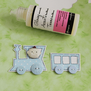 Dekupaj Kağıdı İle Sevimli Tren Yapılışı 2