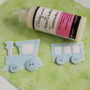 Dekupaj Kağıdı İle Sevimli Tren Yapılışı 3