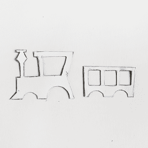 Dekupaj Kağıdı İle Sevimli Tren Yapılışı 6