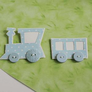 Dekupaj Kağıdı İle Sevimli Tren Yapılışı 7