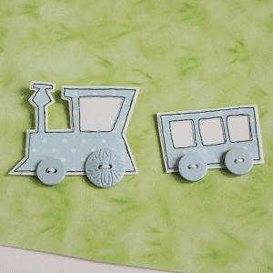 Dekupaj Kağıdı İle Sevimli Tren Yapılışı 8