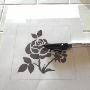 DIY Stencil Şablon Yapılışı 7