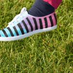 DIY Üç Ton Boyalı Ayakkabı Yapılış