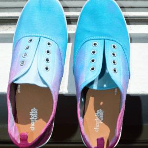 DIY Üç Ton Boyalı Ayakkabı Yapılış 1