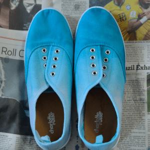 DIY Üç Ton Boyalı Ayakkabı Yapılış 2