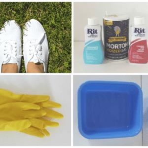 DIY Üç Ton Boyalı Ayakkabı Yapılış 4