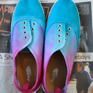 DIY Üç Ton Boyalı Ayakkabı Yapılış 5